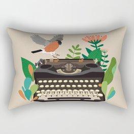 The bird and the typewriter Rectangular Pillow