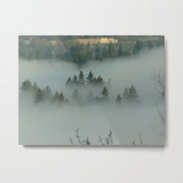 Foggy Hill Metal Print