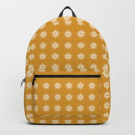 Modern Golden Shining Stars Motif, Cozy Warm Pattern, Gold and White Holiday Glow Backpack