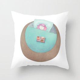 Sleepy A Throw Pillow