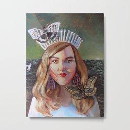 The White Crown Metal Print