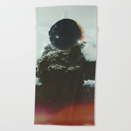 Final Eclipse Beach Towel