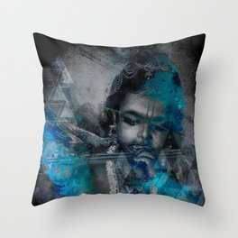 Krishna The mischievous one - The Hindu God Throw Pillow