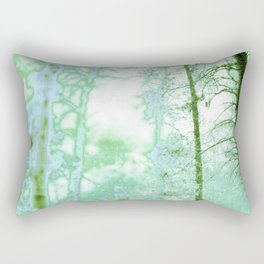 Magical forest in frosty greens Rectangular Pillow
