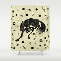 wolf Shower Curtains featuring Wolf by Anya Volk