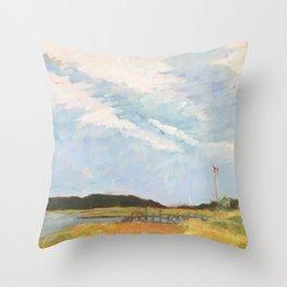 Gus' Dock Throw Pillow
