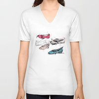 shoes V-neck T-shirts featuring Shoes by ARTDJG