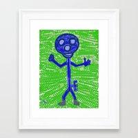 key Framed Art Prints featuring Key by Huiskat