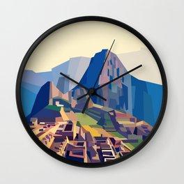 Geometric Machu Picchu, Peru Wall Clock