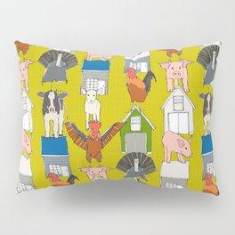 farm pop yellow Pillow Sham