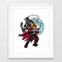 full metal alchemist Framed Art Prints featuring FullMetal Alchemist by Agui-chan