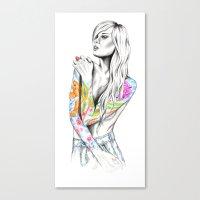 phoenix Canvas Prints featuring Phoenix by 13 Styx