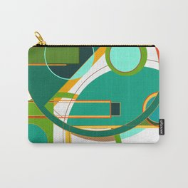 D is for Deco: Abstract Art Deco Font Typography Carry-All Pouch