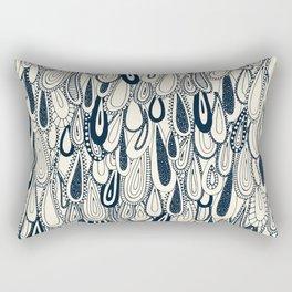 droplets indigo pearl Rectangular Pillow