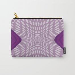 Purple Dots & Stripes Carry-All Pouch
