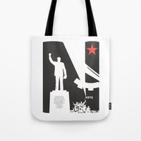 1975 Tote Bags featuring Neto 11Nov 1975 by O ilusionista
