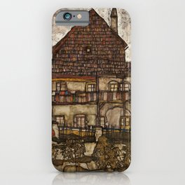 Egon Schiele - House with Shingle Roof iPhone Case