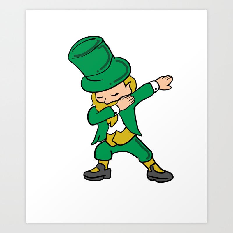 Dabbing Leprechaun Clover St Patrick S Day Shamrock Irish Ireland
