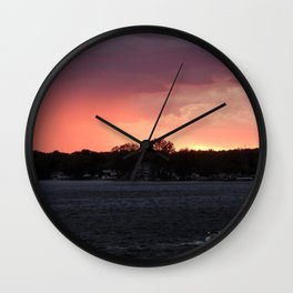 Get Home Before the Storm #Sunset  Wall Clock