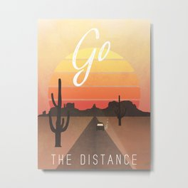 Go the Distance Adventure Poster Metal Print