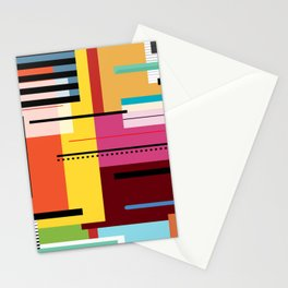 Parallels  lines and colours Stationery Cards