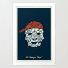 The Georgia Peach Art Print