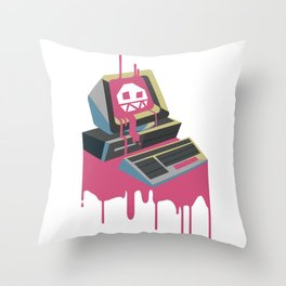 Commodore Virus Throw Pillow
