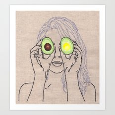 AVOCADO OF MY EYE Art Print