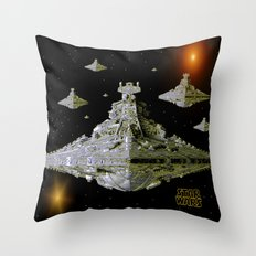 Galactic Battle Cruisers  Throw Pillow
