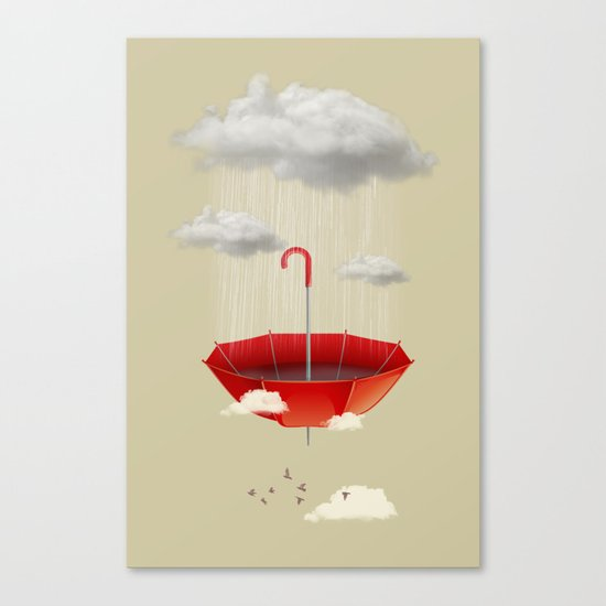 Saving the rain Canvas Print