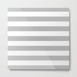 Gray and White Stripes Metal Print