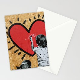 Heart Murales Print Stationery Cards