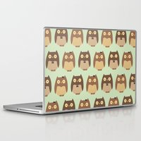 owls Laptop & iPad Skins featuring Owls by sheena hisiro