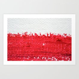 Red on Canvas Art Print