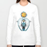 skyfall Long Sleeve T-shirts featuring Cosmic Smoking Skyfall Dragon by Pr0l0gue
