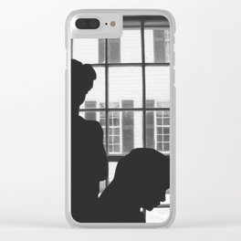Silhouettes In Window Clear iPhone Case