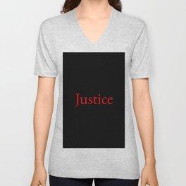Justice 2- red Unisex V-Neck