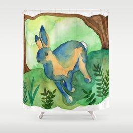 Running Hare Shower Curtain