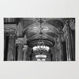 Palais Garnier in Black & White Rug