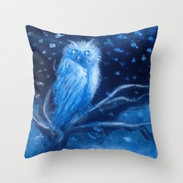 Spirits of the Moonlit Blizzard Throw Pillow