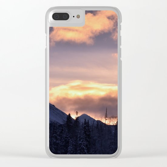 Flat Top Sunrise Serenity Rose Clear iPhone Case