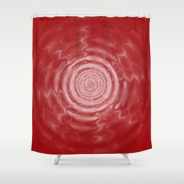 Ripples_Red Shower Curtain