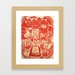 Lumberjack Family Framed Art Print