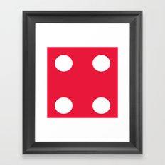 Red Dice 4 Framed Art Print