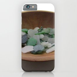 Green and White Sea Glass iPhone Case