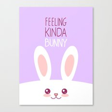 Feeling Bunny Canvas Print