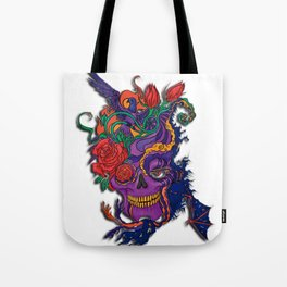 Violet carve Tote Bag