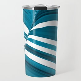Striped of Buttery Blues Travel Mug