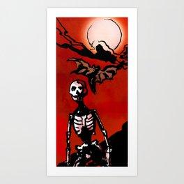Wandering Skull Art Print