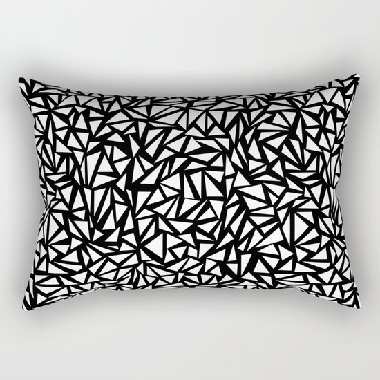 Try Me - memphis modern black and white minimal angular geometric triangle fun 1980s retro  Rectangular Pillow